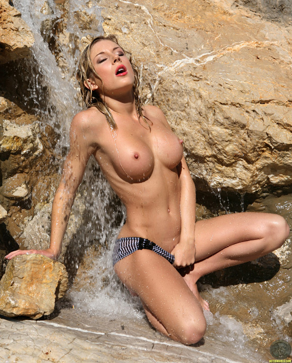 Those on! Hot nude in waterfalls
