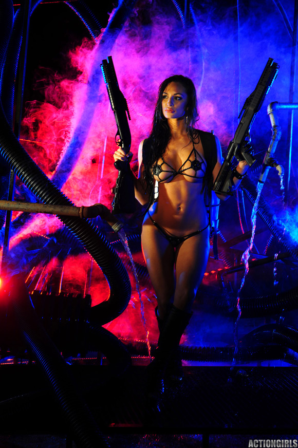 naked-action-girl-rosie-revolver-in-action